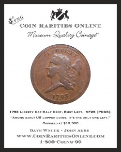 1793 Half Cent Left Ad