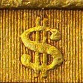 coin with a dollar sign on it